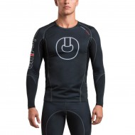 GRIPS ARMADURA 2.0 LONG SLEEVE RASH GUARD BLACK/WHITE