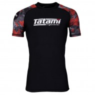 Tatami Renegade Red Camo Short Sleeved Rash Guard