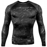 Venum Dragon's Flight Long Sleeve Rash Guard Black/Black