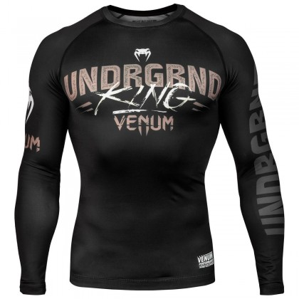 Venum Underground King Long Sleeved Rash Guard Black